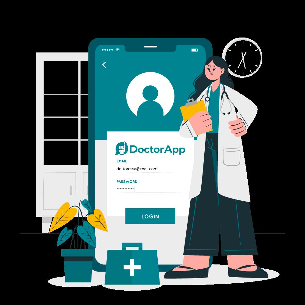 Illustrazione App medico