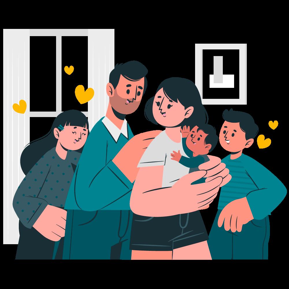 Illustrazione famiglia