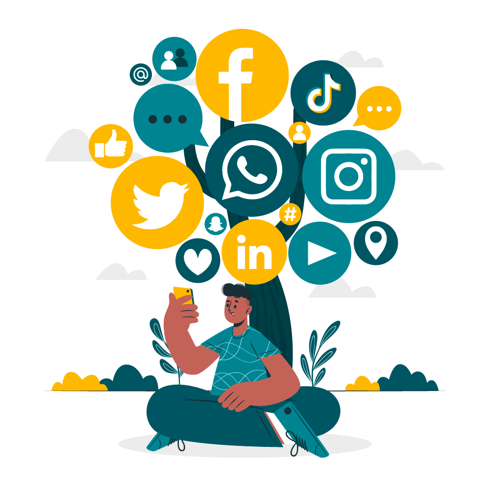 Illustrazione social