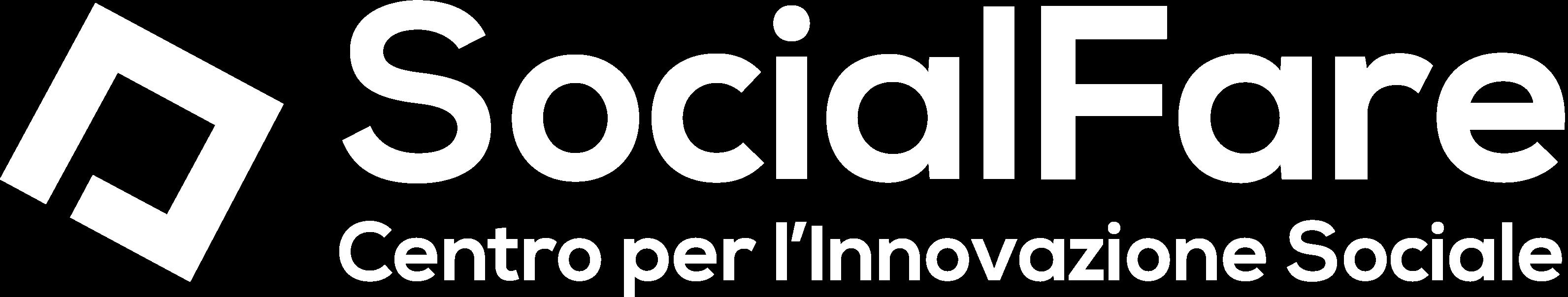 Logo SocialFare bianco