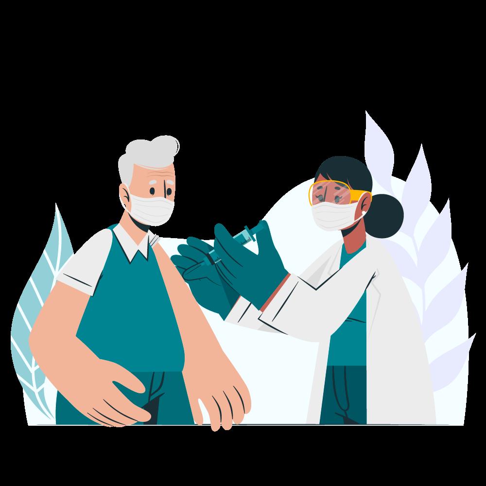 Illustrazione vaccini