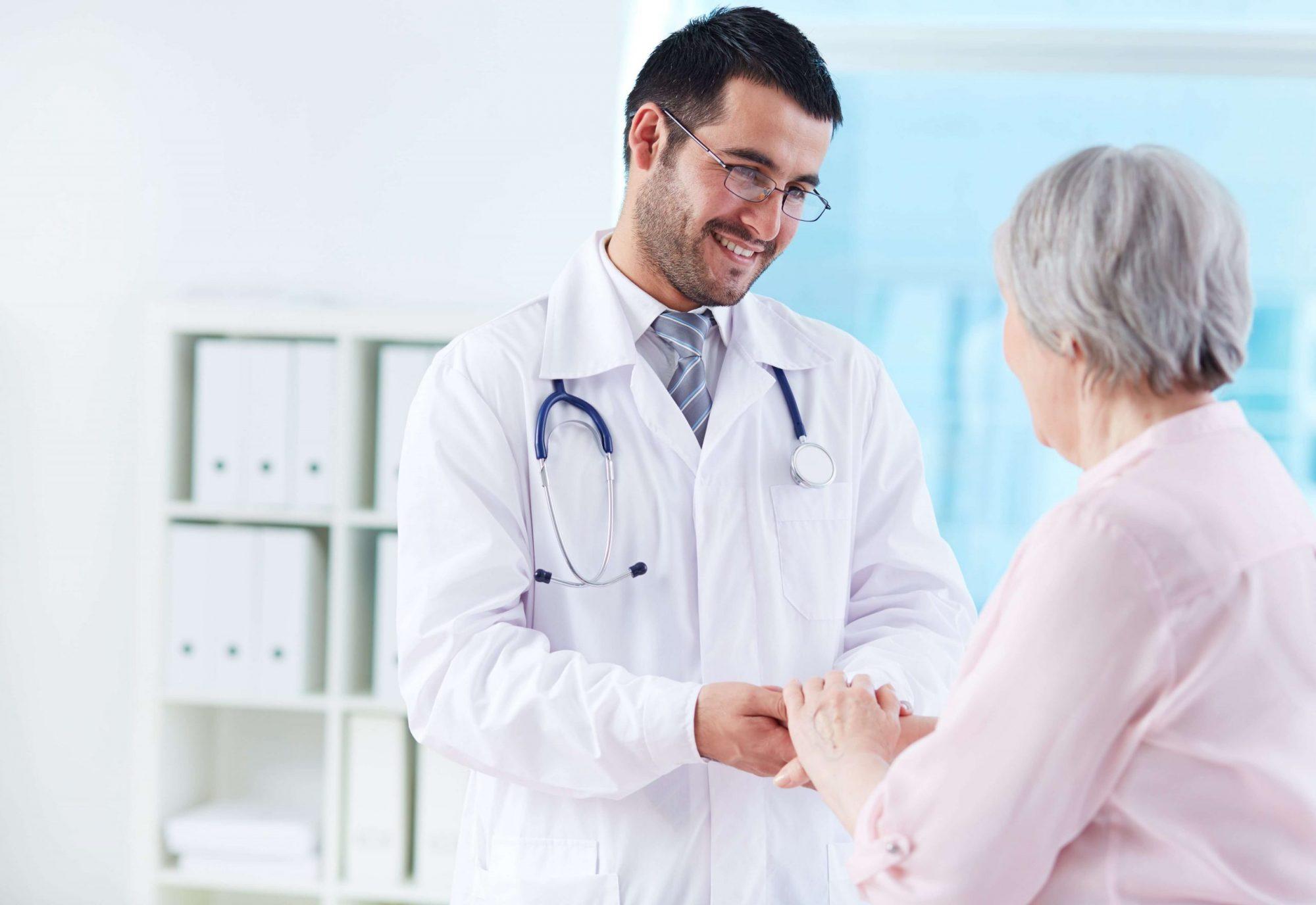 Dottore Paziente Dialogo Comunicazione Salute Sorriso Comprensione