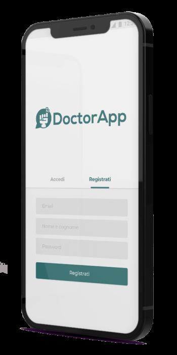 Mockup login app paziente DoctorApp